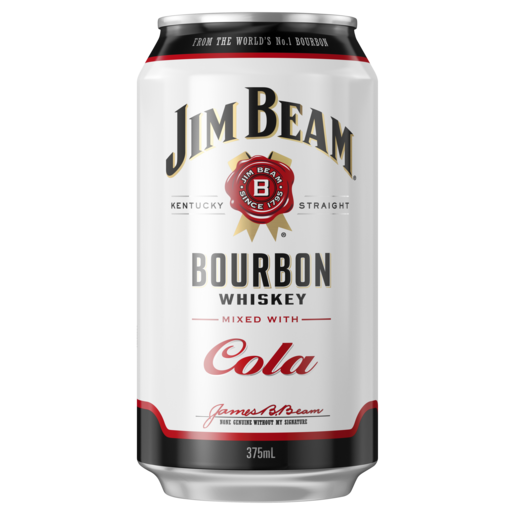Jim Beam and Cola Can