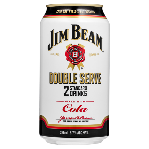 Jim Beam Double Serve 4 Pack Can 6.7%
